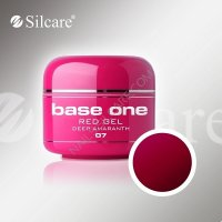 SILCARE BASE ONE GEL UV COLOR 07 RED DEEP AMARANTO