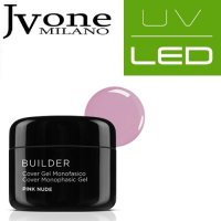 COVER UV/LED SYSTEM GEL MONOFASICO PINK NUDE JVONE MILANO 15 ML