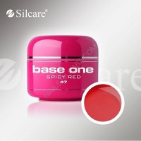 SILCARE BASE ONE GEL UV COLOR 47 SPICY RED