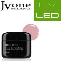 COVER UV/LED SYSTEM GEL MONOFASICO NUDE JVONE MILANO 15 ML